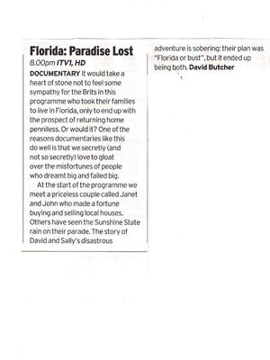 Paradise Lost Radio Times