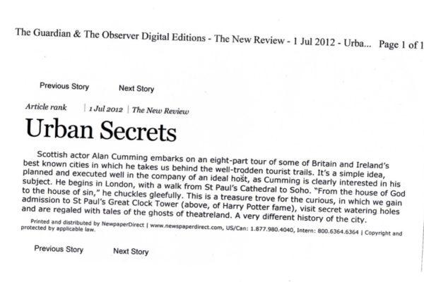 URBAN SECRETS 2