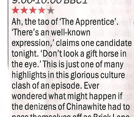 apprentice-Time Out