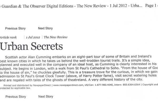 urban secretsGuardian _ Observer